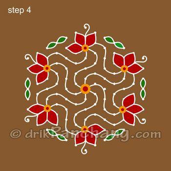 This page provides Dot Rangoli Designs with title Dot Rangoli 15 for Hindu festivals.