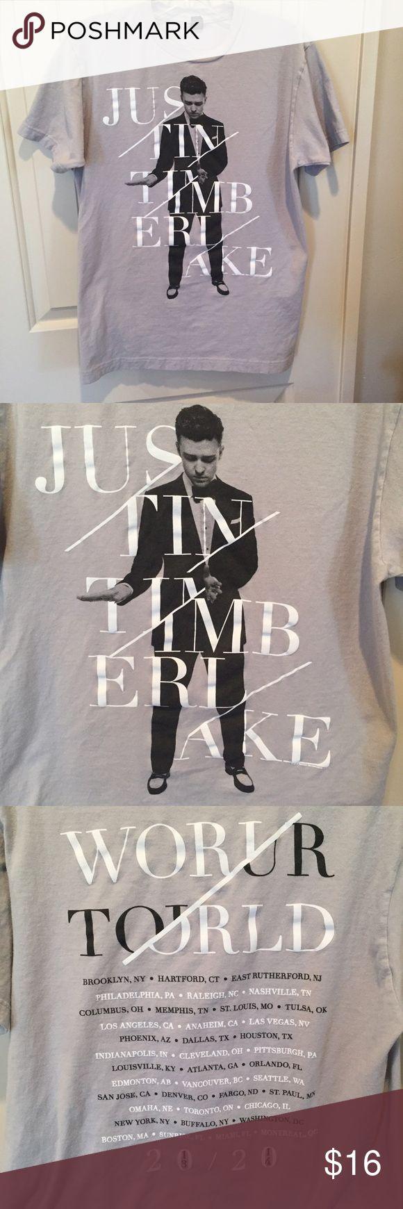 Justin Timberlake concert Tee Justin Timberlake 20/20 concert tshirt. Unisex size medium. Tops