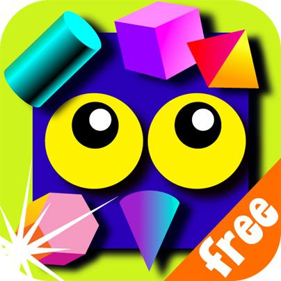 Wee Kids Shapes FREE #kids #app #colorful #education #children #kid #preschool #book #menu #ipad #iphone #android #iOS #math #geometry #shapes #square #triangle #cube