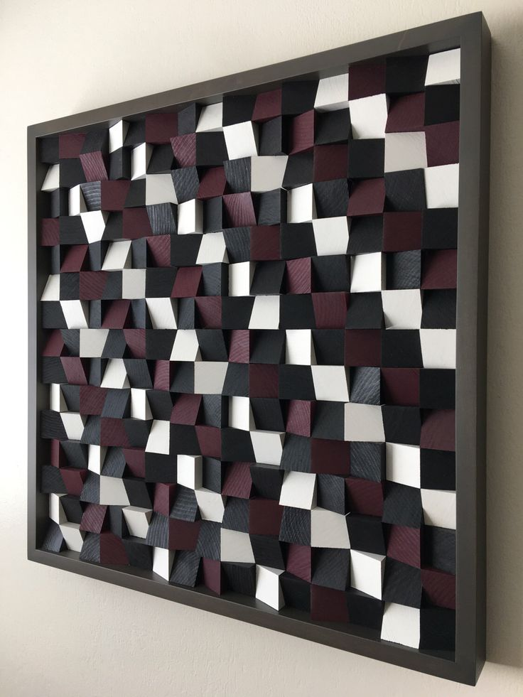 A personal favorite from my Etsy shop https://www.etsy.com/listing/493602440/abstract-wood-art-wood-mosaic-geometric