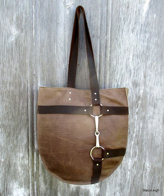 RESERVED for EC Equestrian Bag in Taupe Leather with