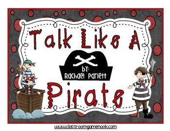 """""""Talk Like a Pirate!"""" A Context Clues Game - Rachael Parlett - TeachersPayTeachers.com"""