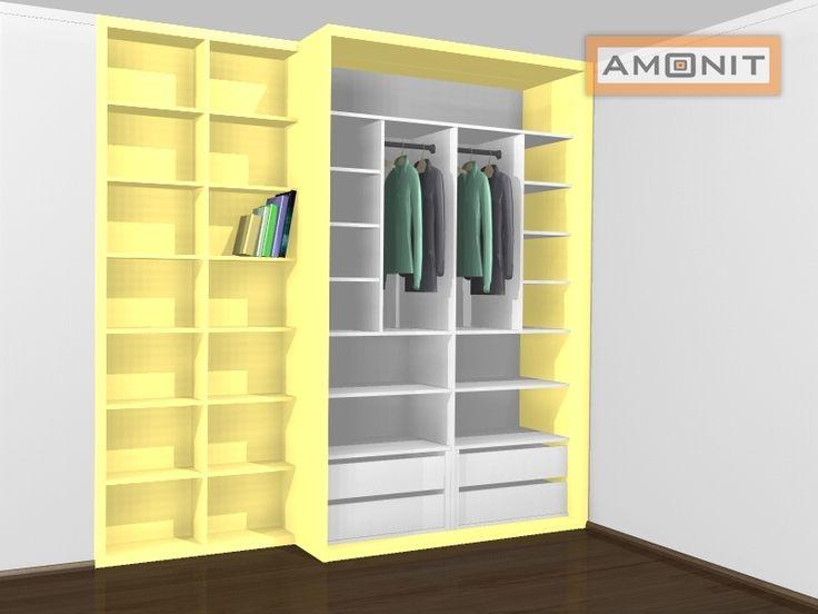 Ukázka vnitřního uspořádání vestavěné skříně - 14. varianta