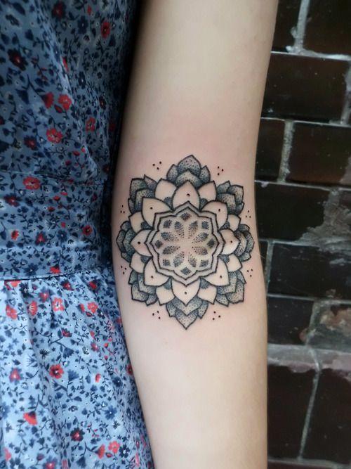 Cool flower tattoo on the arm.  #tattoo #tattoos #ink