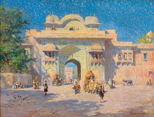 Colin campbell cooper gate of the maharaja palace for Fine art paintings for sale online