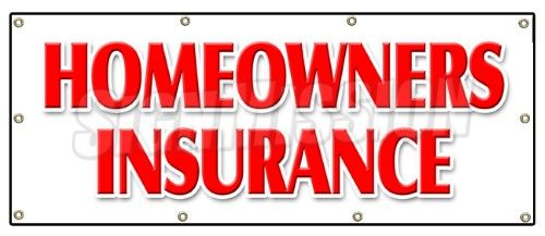 36'x96′ Homeowners Insurance Banner Sign home owners house building apts #insura…