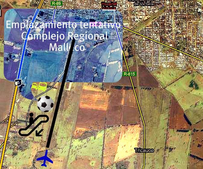 Emplazamiento tentativo de complejo multipropósito, Deportes/Aeroportuario/MediumMall/Fach
