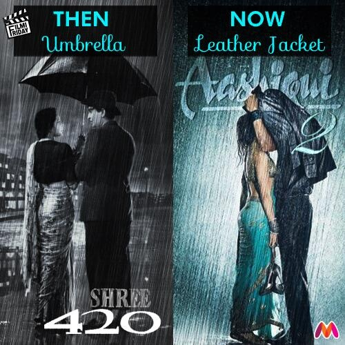 The #Aashiqui2 poster continues Bollywood's obsession with romance-in-the-rain. The accessories have changed though.