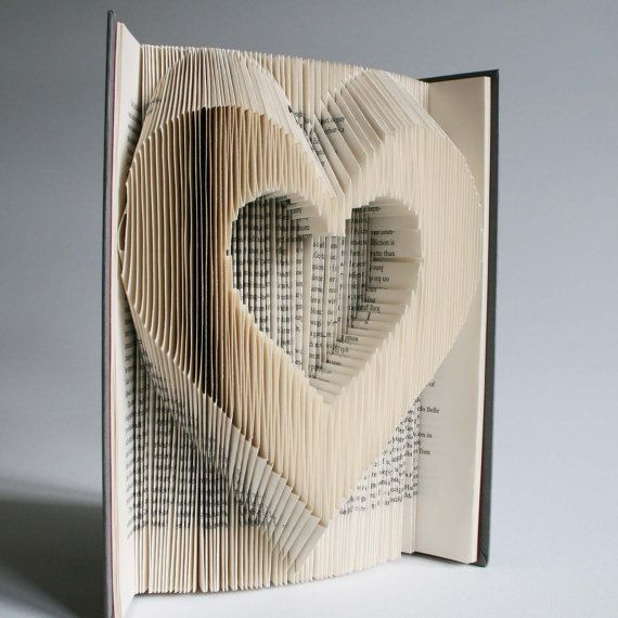 Heart Book Folding Pattern: Plus free printable by LoveBookFolding
