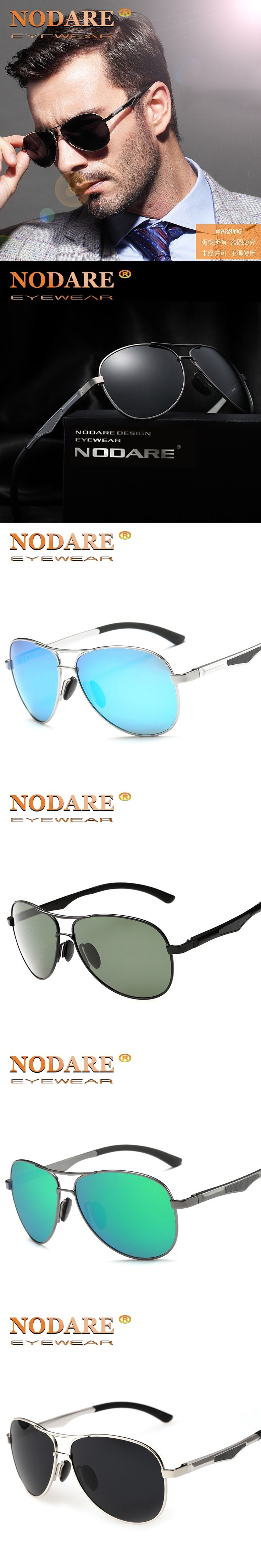 NODARE Polarized Sunglasses for Men Aviator Sunglasses Men for Driving Luxury Brand Coating mirror Sun Glasses male female Women