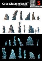 cave stalagmites rt 3d model