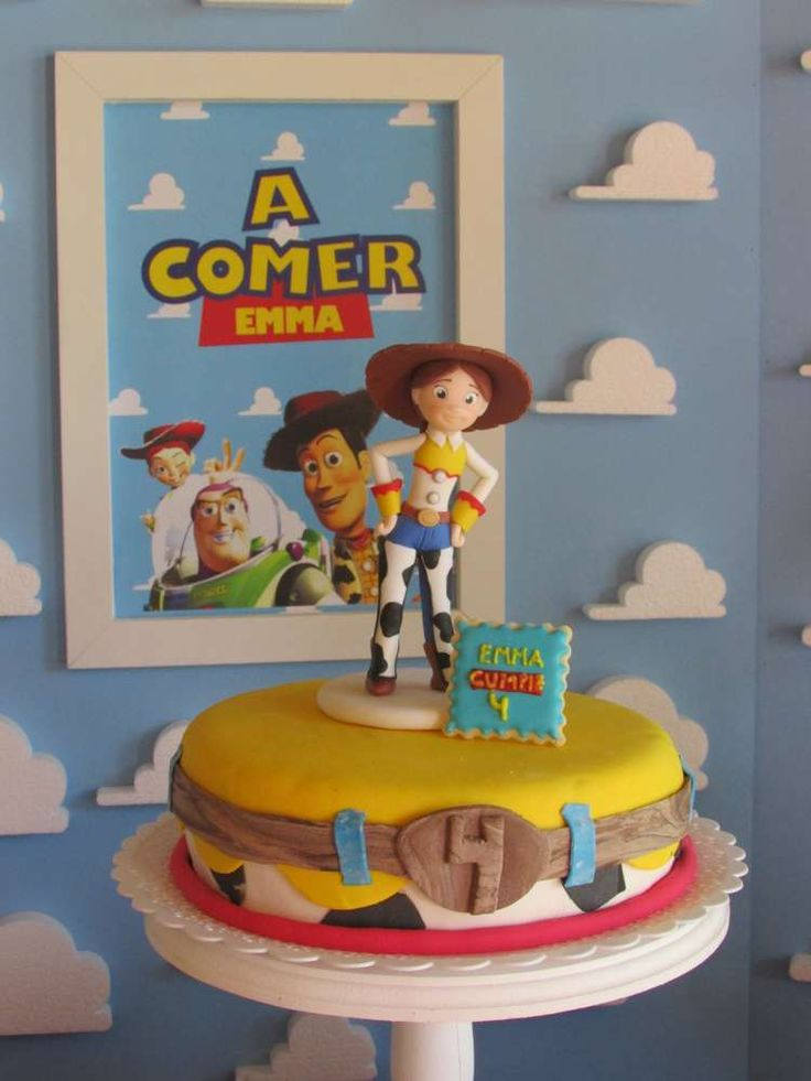 Cute cake at a Toy Story birthday party!  See more party planning ideas at CatchMyParty.com!