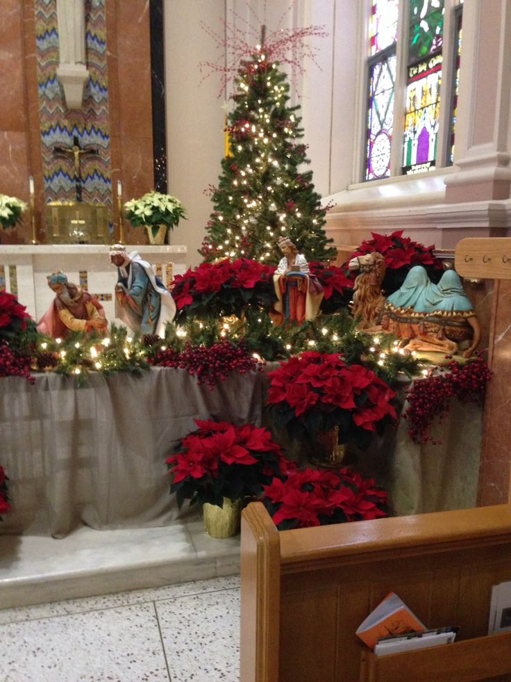 1292 best images about christian altars on pinterest for Christmas church decoration ideas