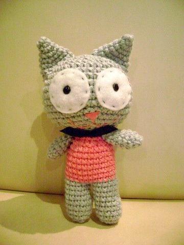 Gato tejido (amigurumi)