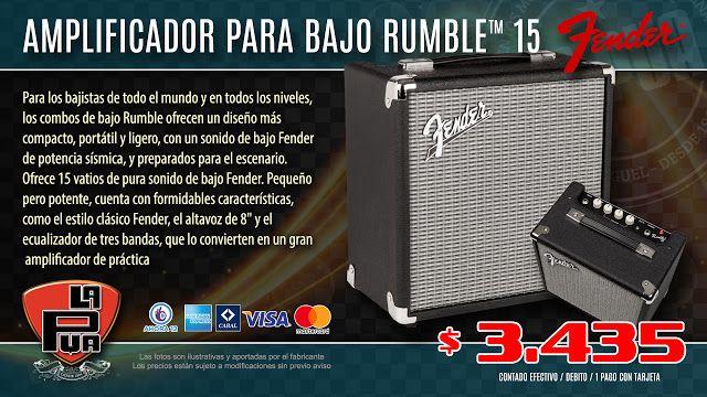 La Púa San Miguel: Amplificador para Bajo FENDER RUMBLE™ 15