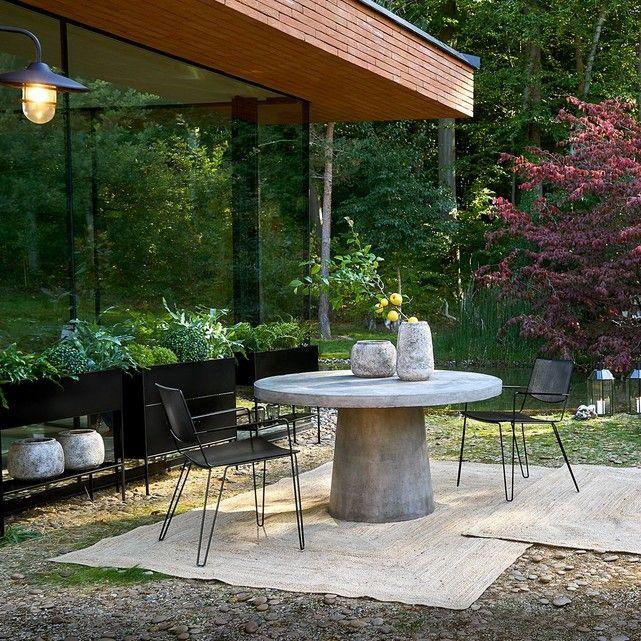 Table De Jardin Argine Gris Ciment Am Pm La Redoute Mobilier De Jardin Design Table De Jardin Jardinieres Metalliques