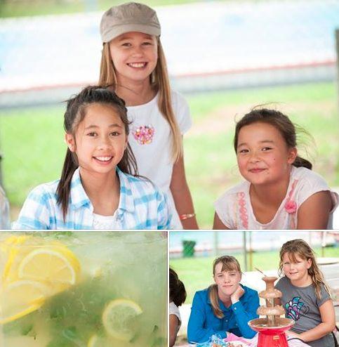 Homemade Lemonade Stall - Lovely local girls selling lemonade at the Nundle Country picnic Mar 2014.