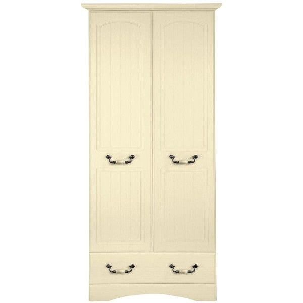 Consort New Avanti Ready Assembled 2-Door, 1-Drawer Wardrobe (€275) ❤ liked on Polyvore featuring home, furniture, storage & shelves, armoires, shelving furniture, door furniture, door shelving, painted armoire and drawer shelf