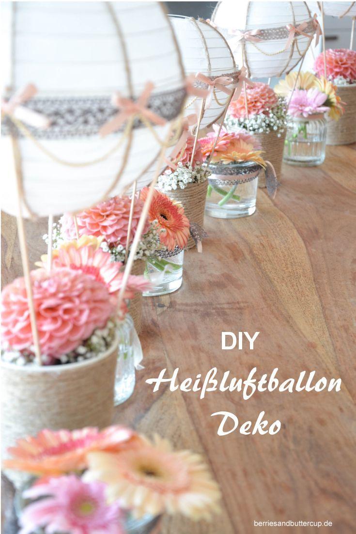DIY Up up and away  HeiluftballonDeko und