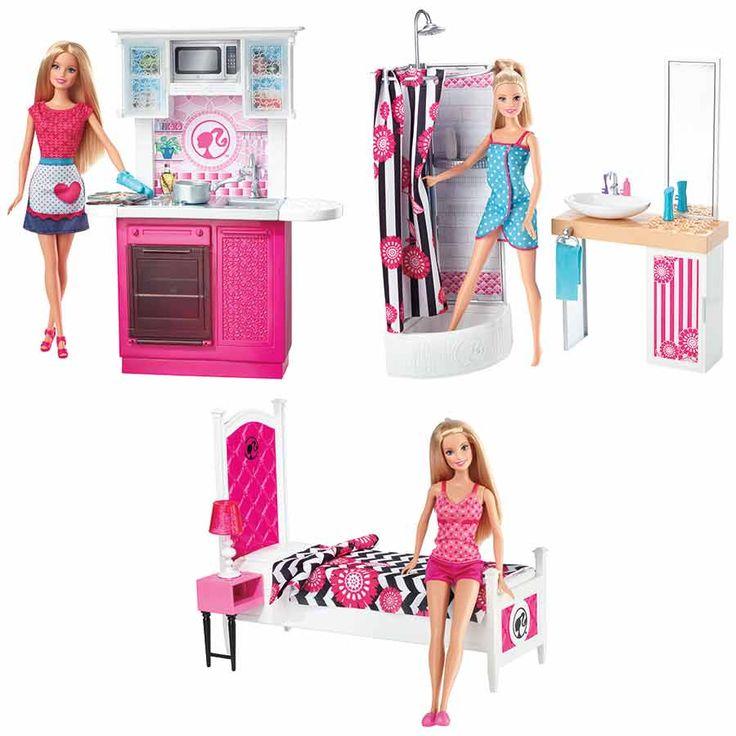 Kitchen Set Toys R Us: Barbie Doll & Furniture Set - Assorted