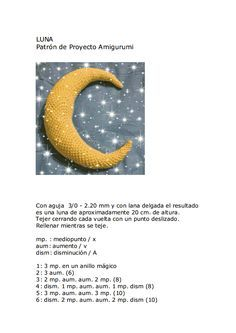 Amigurumi Moon - Tutorial ❥ 4U hilariafina  http://www.pinterest.com/hilariafina/