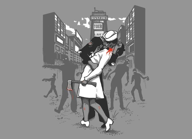 """Funny take on Alfred Eisenstaedt photograph.   """"Z-Day"""" - Threadless.com - Best t-shirts in the world"""