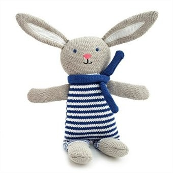 Knitted Sailor Bunny- Blue
