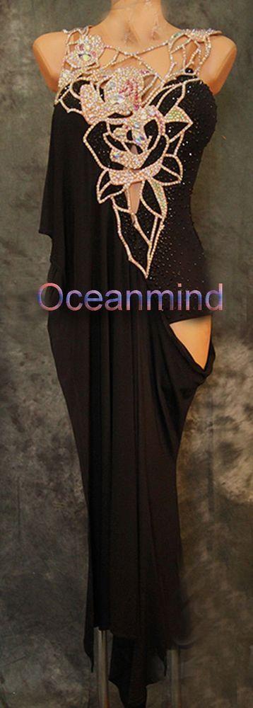 U5112 Cocktail ballroom women salsa rumba chacha Latin dance dress Tailor made #seahunter