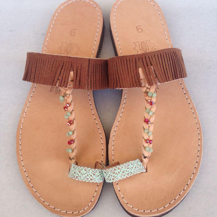Brown bohemian sandals by @bohemian__dreams