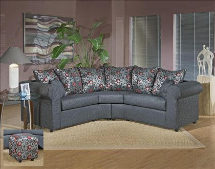 Chelsea Home Dawn Apartment Size Sofa Sectional In Onyx $879.99