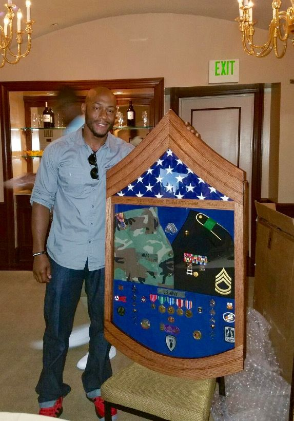 how to make an army shadow box