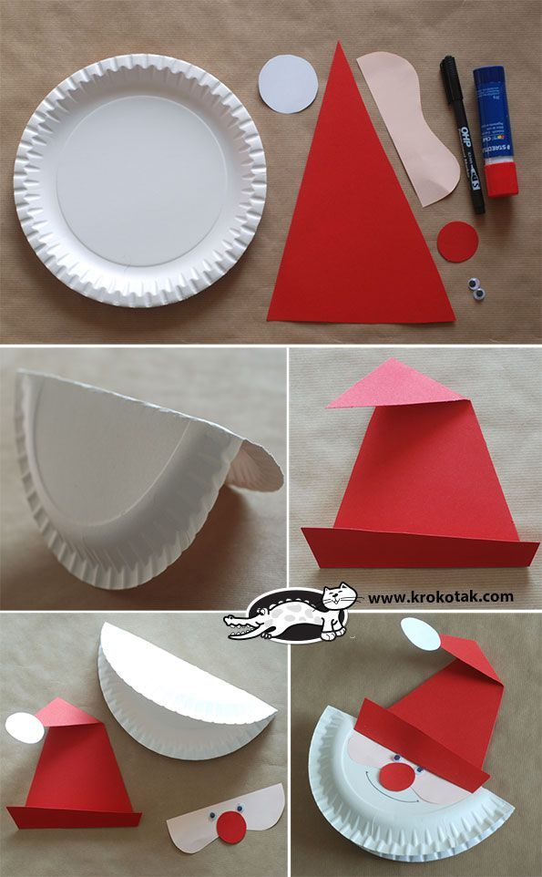 Make a Santa Paper Plate - easy - idea for kids
