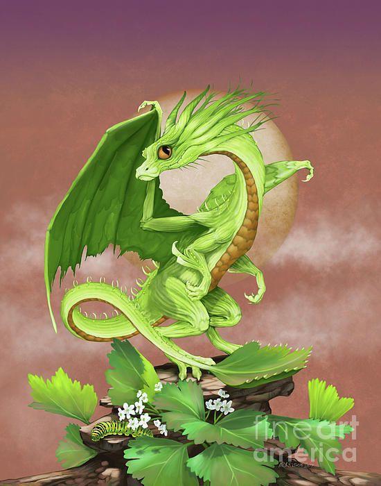Celery Dragon Digital Art by Stanley Morrison