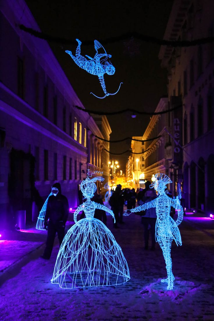 Lux Helsinki festival brings light to the dark winter days of Helsinki every January.