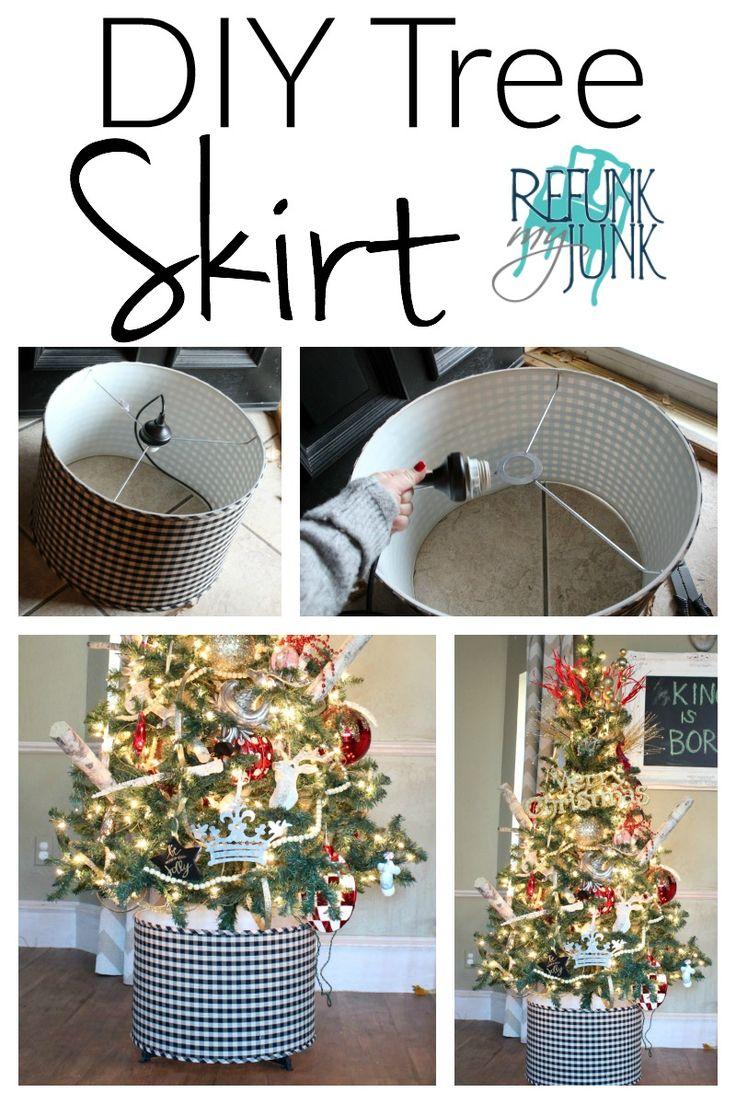 $6.00 DIY Tree Skirt - Tree Skirt Alternatives - Refunk My Junk