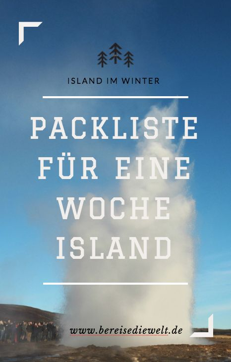 Meine Packliste für eine Woche Island im Winter