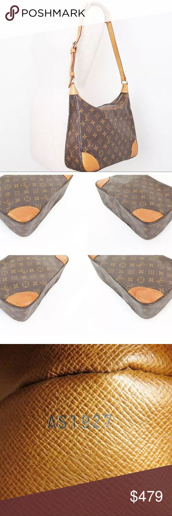 """Authentic Louis Vuitton Boulogne 30 This bag is in excellent condition on the outside. No rubbing on corners, but slight water marks on two of the four. Strap is in great condition. Adjustable from 29"""" to 40"""". Inside is good with the exception of the zippered pocket which has wear and flaking. Not sticky. Any questions, please ask. Overall, a wonderful bag. Louis Vuitton Bags Shoulder Bags"""