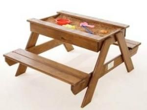 Picnic table with sandpit tray | Educanda