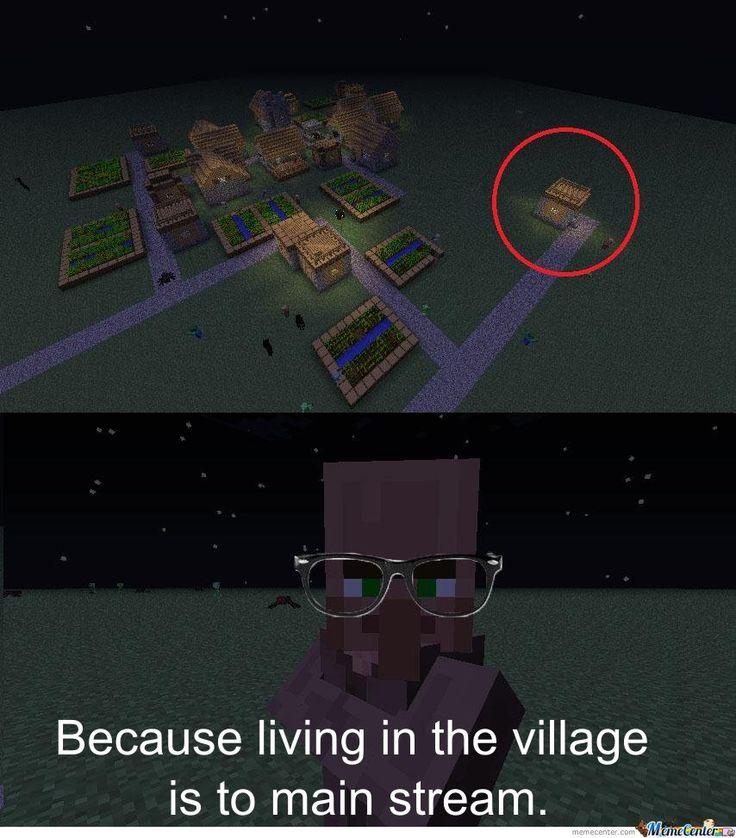 minecraft memes | Hipster NPC Minecraft