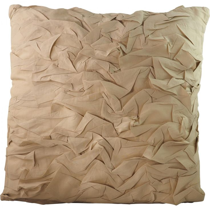 Nashik Ruched Natural Cushion 50X50 cm