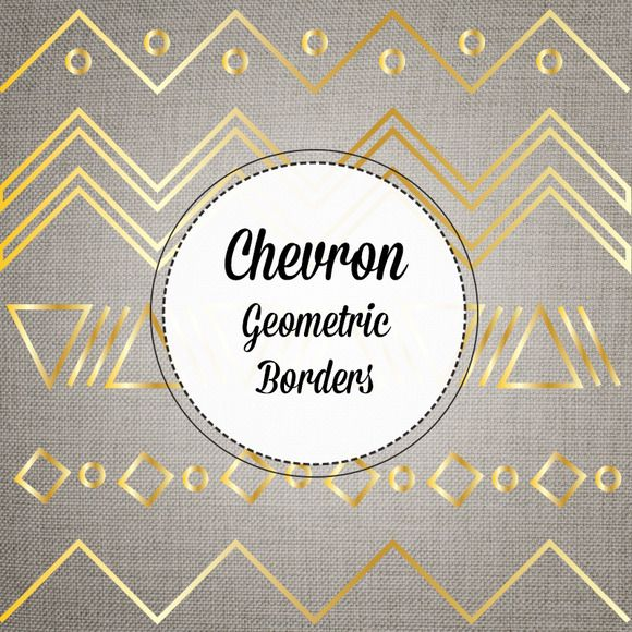 Check out Gold Chevron Borders Vector and PNG by eyesofstyleblog on Creative Market