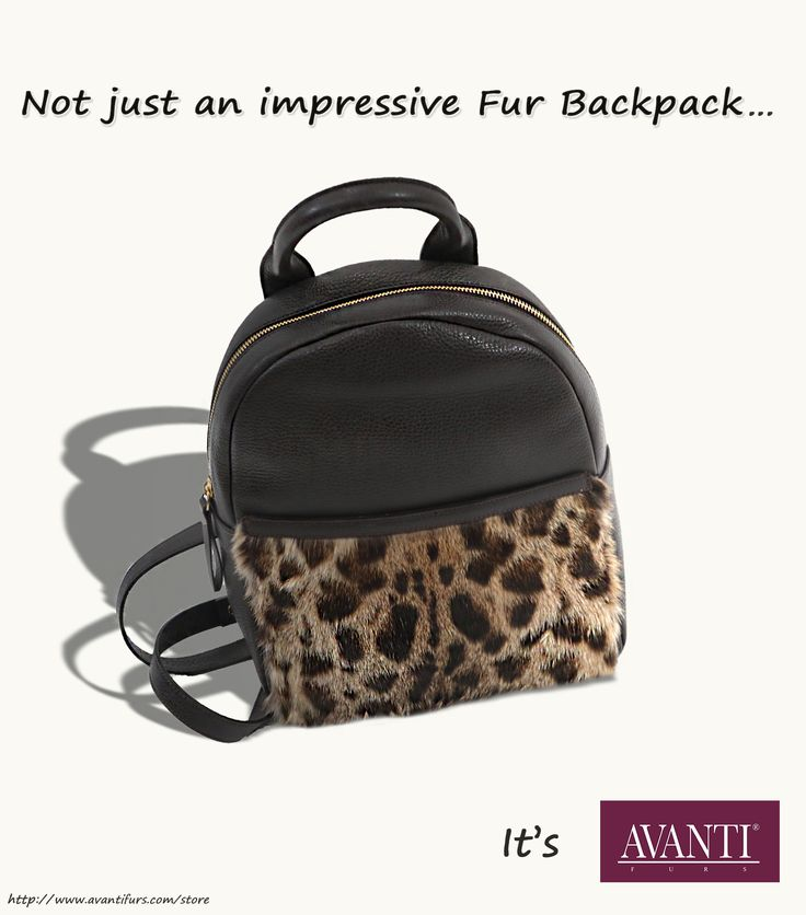 Luxury #AVANTIFURS backpack - mink skin &leather #furs #leather #bags #fashion #streetstyle #luxury #musthave #backpack #women #womenfashion