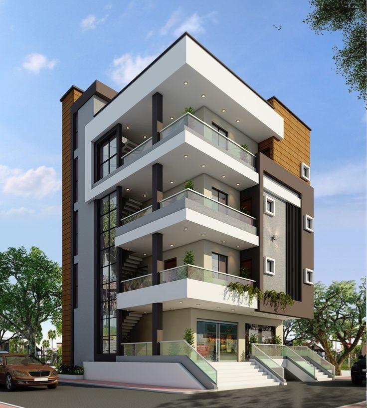Modern Residential Exterior By Ar Sagar Morkhade: Vivienda Multifamiliar En 2019