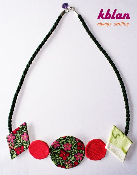 New geometric fabric necklace! So colorful!!!