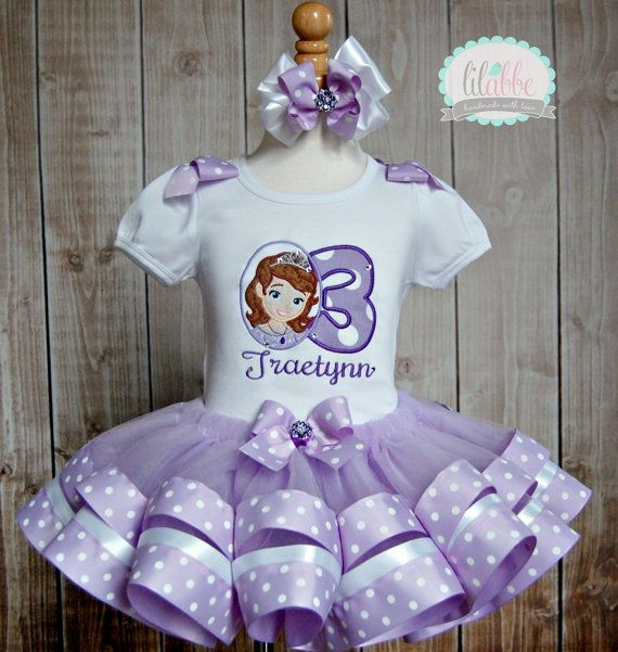 He encontrado este interesante anuncio de Etsy en https://www.etsy.com/es/listing/153397514/sofia-the-first-tutu-set-ribbon-trim