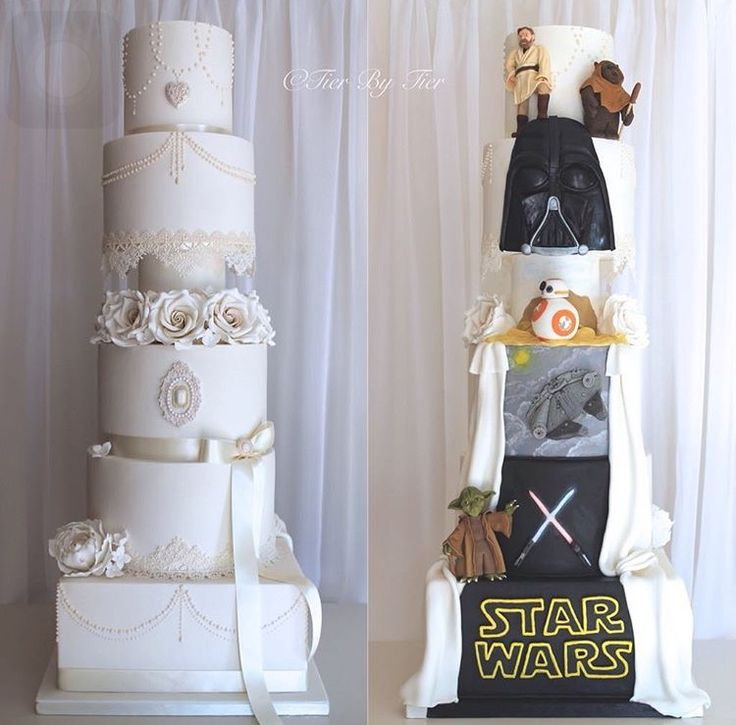 Special designed wedding cake Star Wars theme