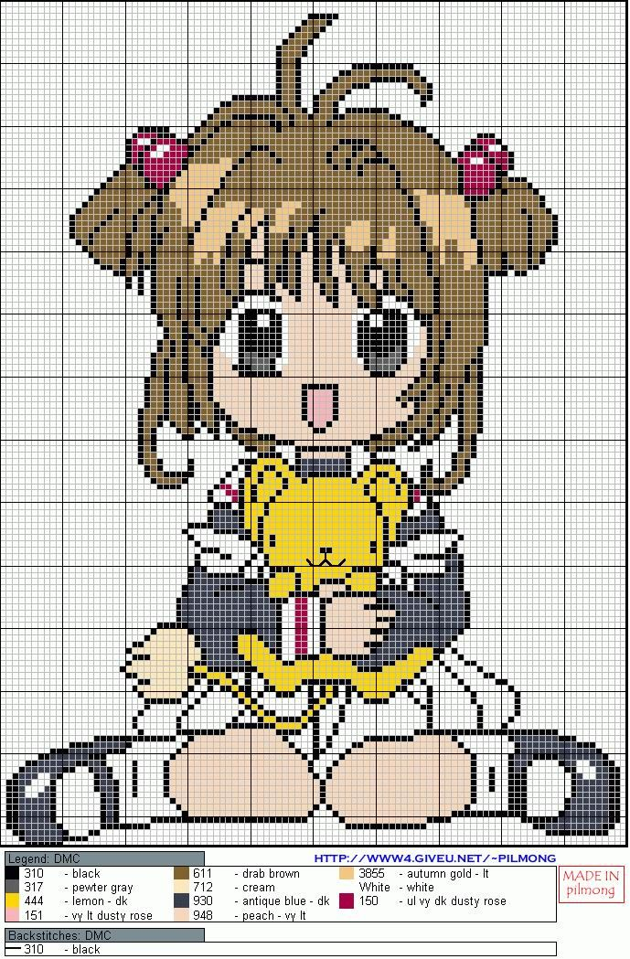 Anime perler bead pattern