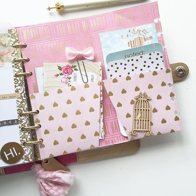THE INSIDE OF MY PLANNER FOLDER.  I think I am gonna use it for hold journal cards.