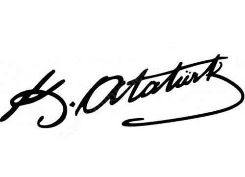 Signature of Ataturk
