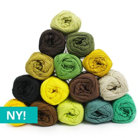Garnpaket - Cotton 8/4 - Höst - 15 färger Garnpaket